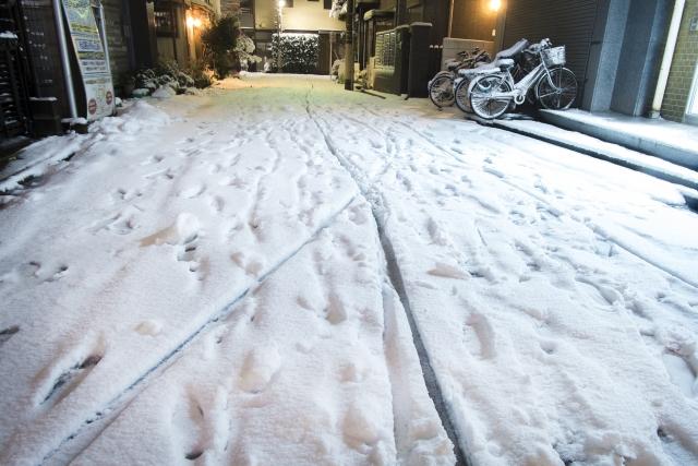雪の日は転倒にご注意を